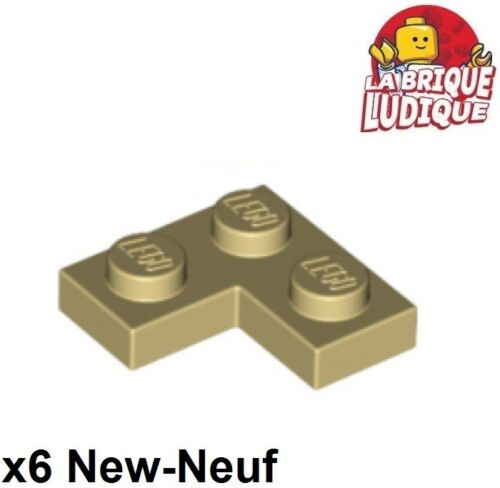 6x Plaque Plate coin corner L 2x2 beige//tan 2420 NEUF Lego