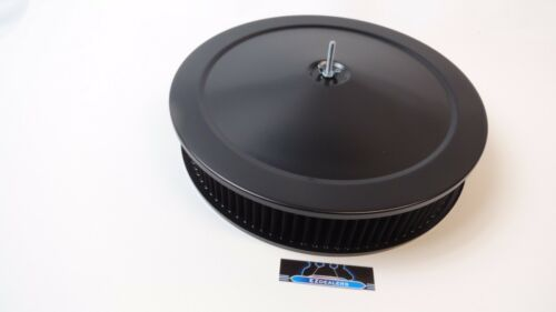 14 Round Black Air Cleaner Assembly kit Drop Base 3 Washable filter,Hot Rod