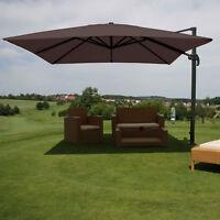 Gastronomie-Luxus-Ampelschirm Sonnenschirm MCW, Ø 4,30 m braun ohne Ständer