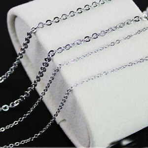 100pcs/lot 1.5/2/2.4/3.2mm in bulk women's stainless steel silver tone necklaces
