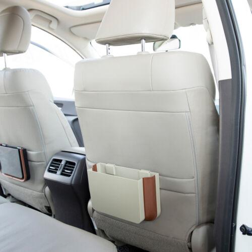 2Color Car Universal Portable Retractable Car Seat Back Garbage Trash Bin Holder