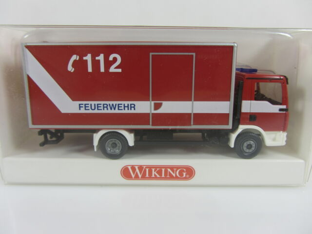 Wiking 606028 HO 1:87 MAN TGA Feuerwehr Koffer, neu und mit OVP
