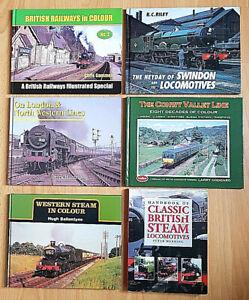 6 Railway Books Locomotives Steam Hardback British Railways In Colour 1990/2004