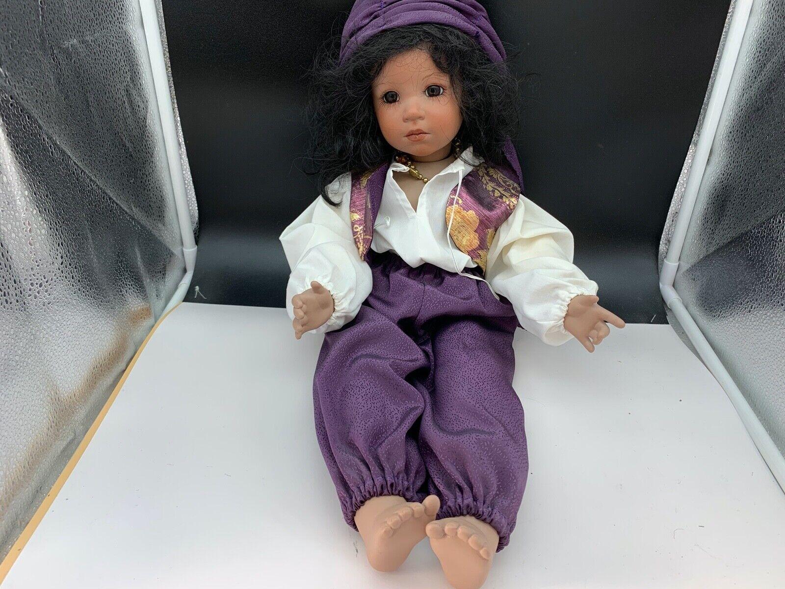 Künstlerpuppe Porzellan Puppe 48 cm. Top Zustand