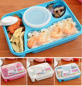 portable bento lunch box utensils food storage containers microwave oven box ebay. Black Bedroom Furniture Sets. Home Design Ideas