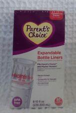 Parent/'s Choice 4 oz Pre-Sterilized Playtex Gerber Baby Bottle Liners 110 qty