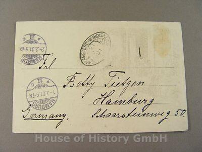 Niederländisch Westindien 1901 Volume Large Discreet Ak152: Brief: Amsterdam West Indien