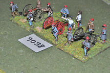 25mm american civil war 3 guns & crews confederate artillery (9038) metal painte