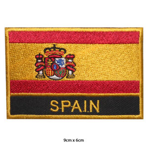 Spain-National-Flag-Embroidered-Patch-Iron-on-Sew-On-Badge-For-Clothes-etc