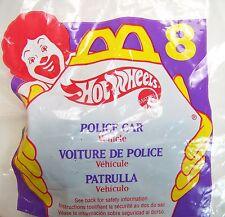 1996 Vintage McDonald's Happy Meal Premium Hot Wheels Police Car Toy #8 MIP C10!