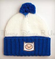 Adventure Time W/ Finn & Jake Knit Pom Cuff Plush Winter Beanie Hat