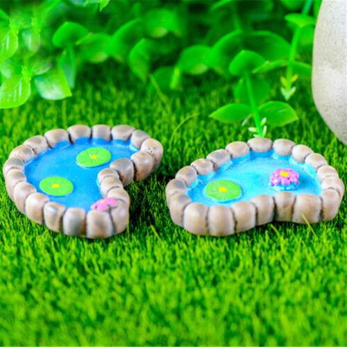 Fairy Lotus Pond Garden Miniature Home Decor Crafts DIY Dollhouse GiftSE