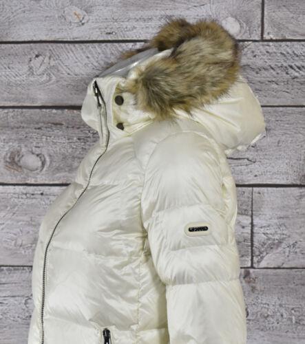 Femmes Bas Xs Blanc Polo Fourrue Lauren Ralph Neuf Doudoune f4q1S
