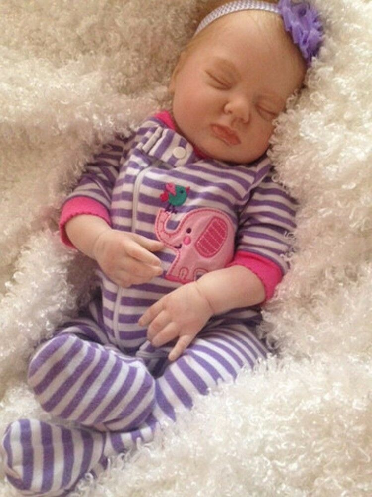 Reborn Sleeping Girl  Emma  - Doll Therapy for Alzheimers, Kids & Special Needs