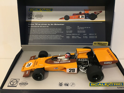 Scalextric C3833A Lotus 72 Gunston 1974 Ian Scheckter Limited Edition
