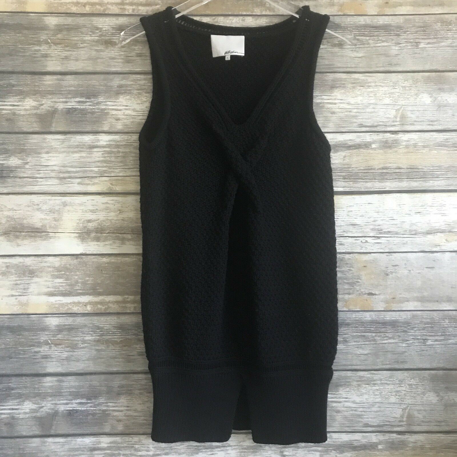 3.1 Phillips Lim Women's Navy Knit Sweater Sleeveless Tunic Top - Size L