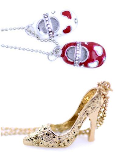 Adorables émaillé chaussures chaussures collier multiple choix