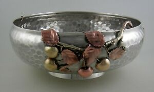 Sterling-Gotham-mixed-metal-footed-bowl-serial-1730-1881