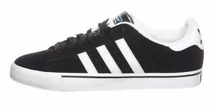 Image is loading Adidas-CAMPUS-VULC-Black1-Run-White-Casual-Skate-