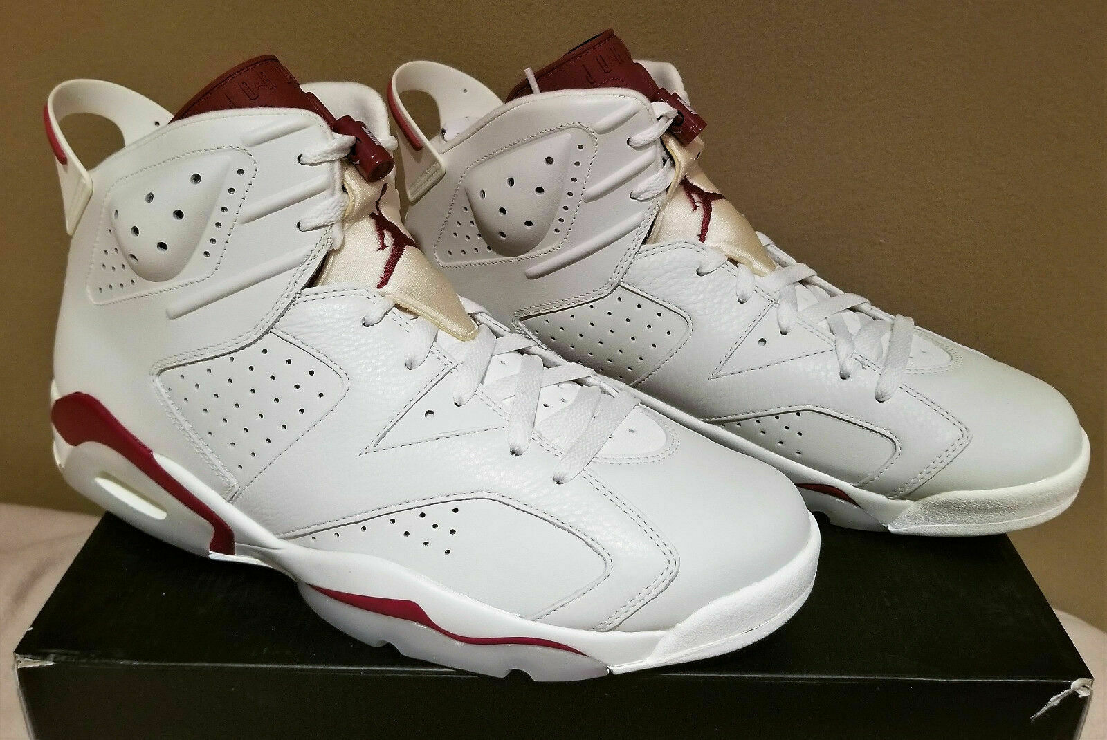 34897a8e486d Nike Air Jordan 6 Retro VI 2015 off White Maroon 384664-116 DS Size ...