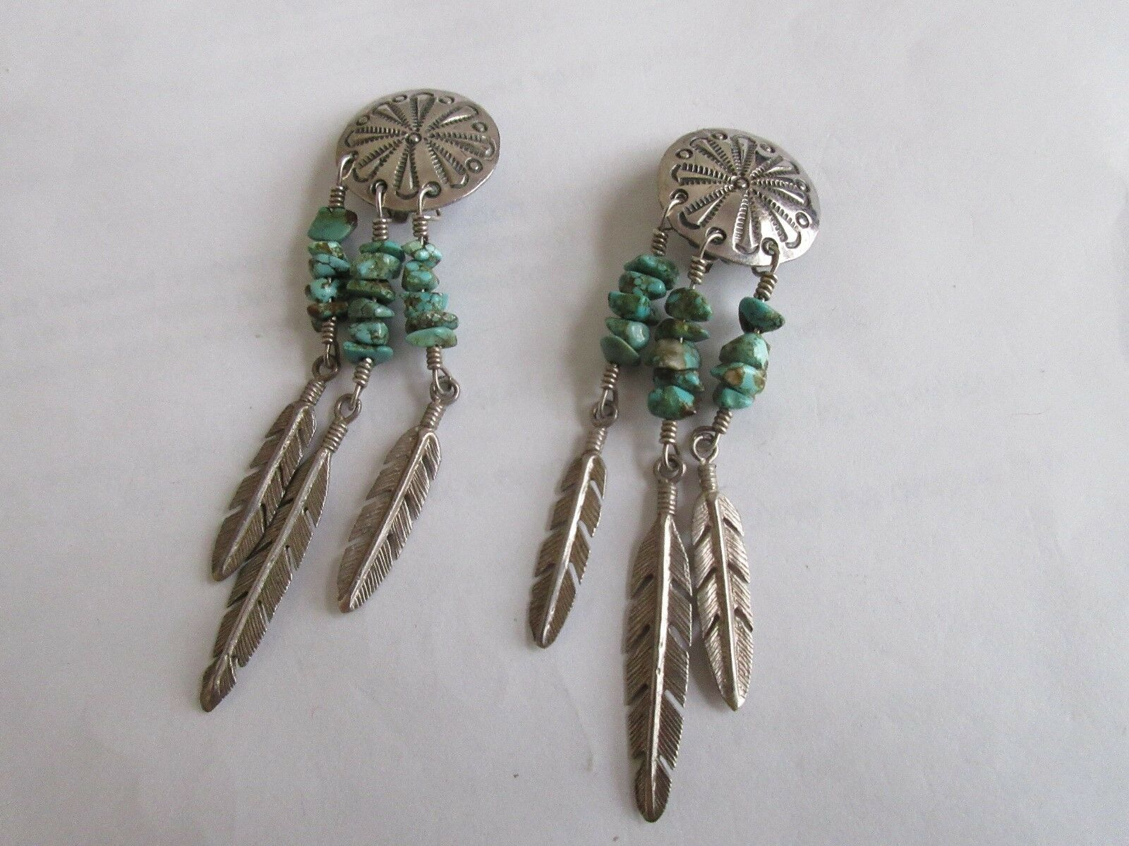 Earrings , Sterling Silver , Turquoise , Clip On , Sout