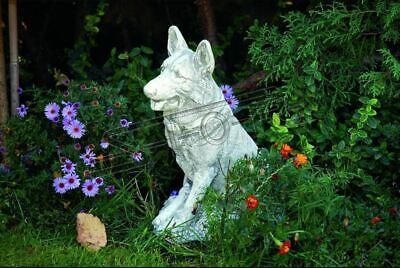 Garten Dekoration Deutscher Schäferhund Terrasse Stein Figuren Figur Deko Statue