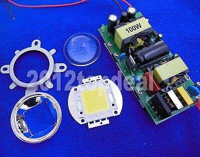 100W High Power LED BEAD + Driver + Lens Kit 4000K 6000K 10000K 20000K 30000K