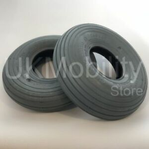 2-x-of-3-00-4-Grey-Rib-Tread-Pneumatic-Mobility-Scooter-Tyres-260x85-300x4