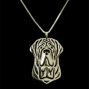 Rottweiler Dog Pendant Necklace Silver ANIMAL RESCUE DONATION