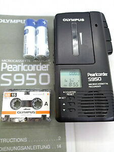 Olympus-S950-MicroCassette-Pearlcorder-Voice-Recorder-Dictaphone-Dictation-Black