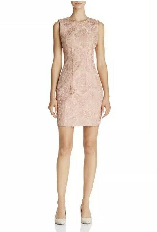 NWT Theory Hourglass Baroque Jacquard Sleeveless Rosa Dress 2
