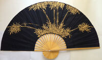 Thai Chinese Handpainted Decorate Bamboo Wall Fan Bb17