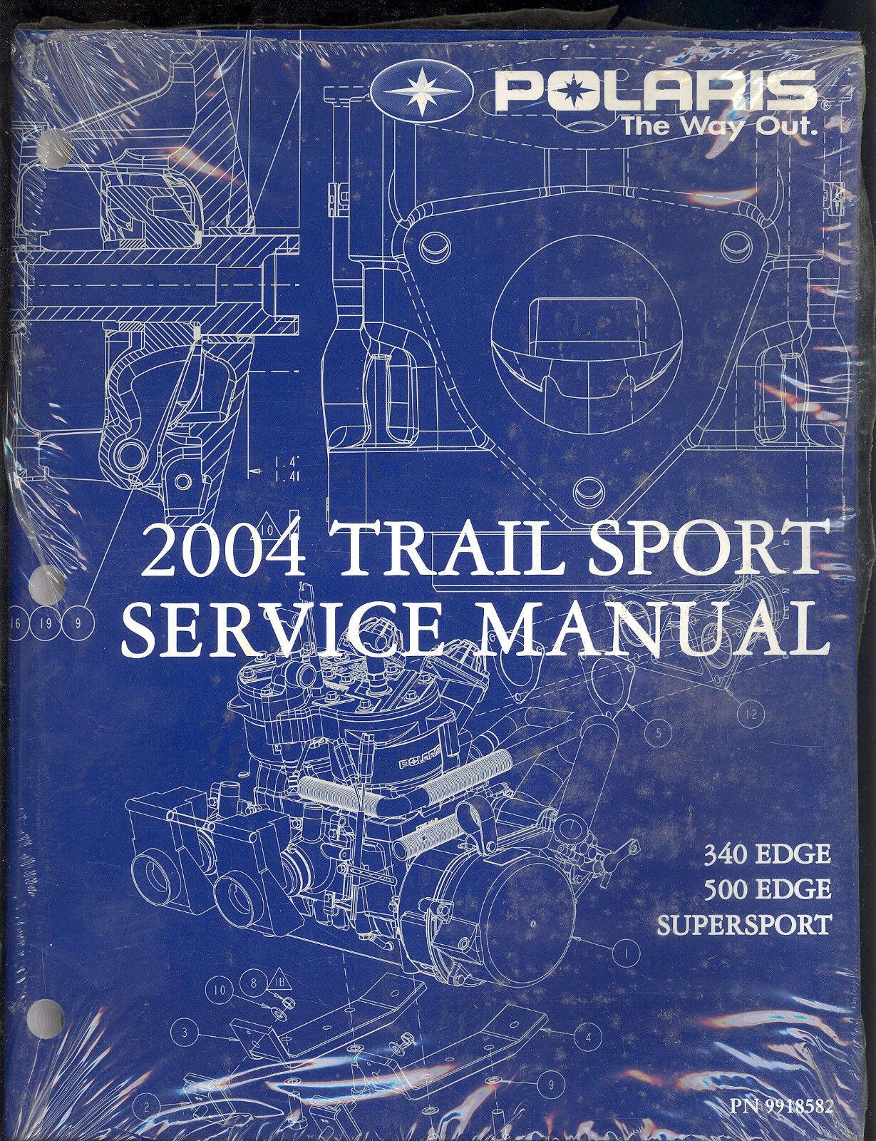 2004 POLARIS TRAIL SPORT SNOWMOBILE SERVICE MANUAL 340 500 EDGE SUPERSPORT