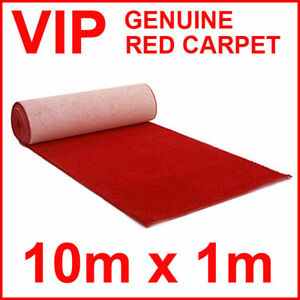 Image Is Loading Genuine Red Carpet Runner Vip Weddings 10m X