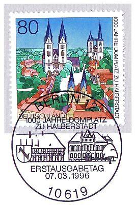 Brd 1996: Halberstadt Nr. 1846 Mit Dem Berliner Ersttags-sonderstempel! 1a! 1905 Dinge FüR Die Menschen Bequem Machen