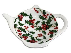 BN-Christmas-Porcelain-Teabag-Holder-Holly-Teabag-Rest-Xmas-Teabag-Tidy
