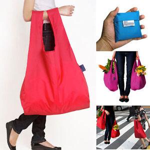Reusable Foldable Handbag Eco Bags Shopping Bag Grocery Bags Pouch Tote 8 Colors