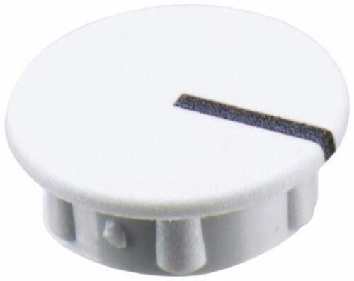 TAPPO MANOPOLA POTENZIOMETRO SIFAM per l/'uso Foderato Berretto TIPO Manopola 11mm diametro bianco