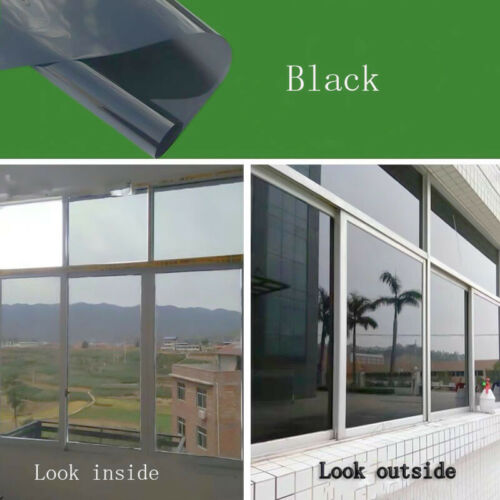 One Way Glass Self Adhesive Mirror Window Film PET Reflective Insulated Foil DIY