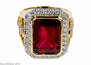 MRG2026 G-P Sterling Silver w//Gold Plating Amethyst Men/'s Clergy Bishops Ring