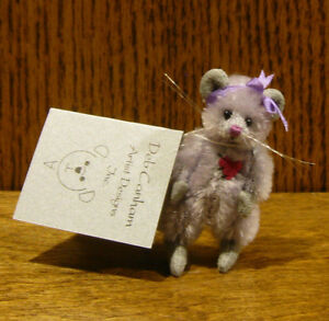 """DEB CANHAM Artist Designs MISSY, Mini Mices Coll. 2.25"""" LE Mohair mouse"""