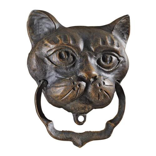 Black Cat Antique Cast Iron Authentic Traditional English Style Door Knocker New