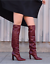 VETEMENTS-REFLECTOR-DARK-RED-LEATHER-SLOUCH-OVER-THE-KNEE-BOOTS-EU-40-US-10 thumbnail 7