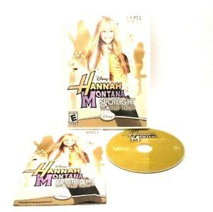 Disney-Hannah-Montana-Spotlight-World-Tour-Nintendo-Wii-Complete-Very-Good-2006