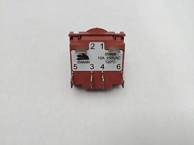 2 x Genuine Chef Select Plus Oven Cooktop Heat Control Switch EPSC631S EPSC631W