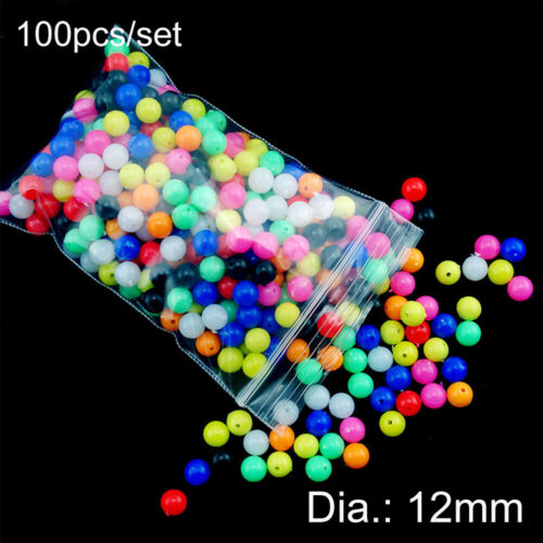 100pcs Round Mixed Color PE Plastic Stopper Beads Carp Fishing Rig Fishing Lures