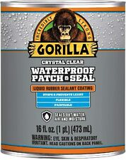 Gorilla Waterproof Patch Amp Seal Clear Liquid Rubber Sealant 16 Oz
