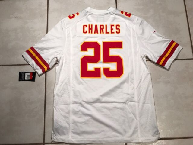 NWT NIKE Kansas City Chiefs Jamaal Charles NFL WHITE Jersey Men s Large 2156b3203