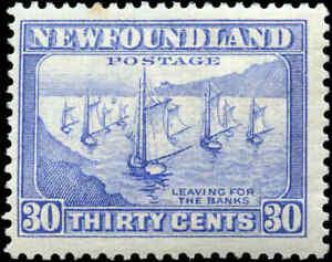 Mint-H-Canada-Newfoundland-1932-37-30c-F-Scott-198-Stamp