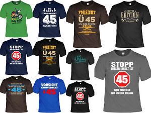 Details Zu T Shirt Zum 45geburtstag 45 Jahre Coole Sprüche Motive Geburtstag 45